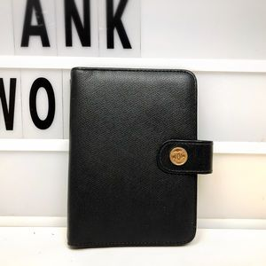 Chanel CC Leather Black Agenda Cover PM